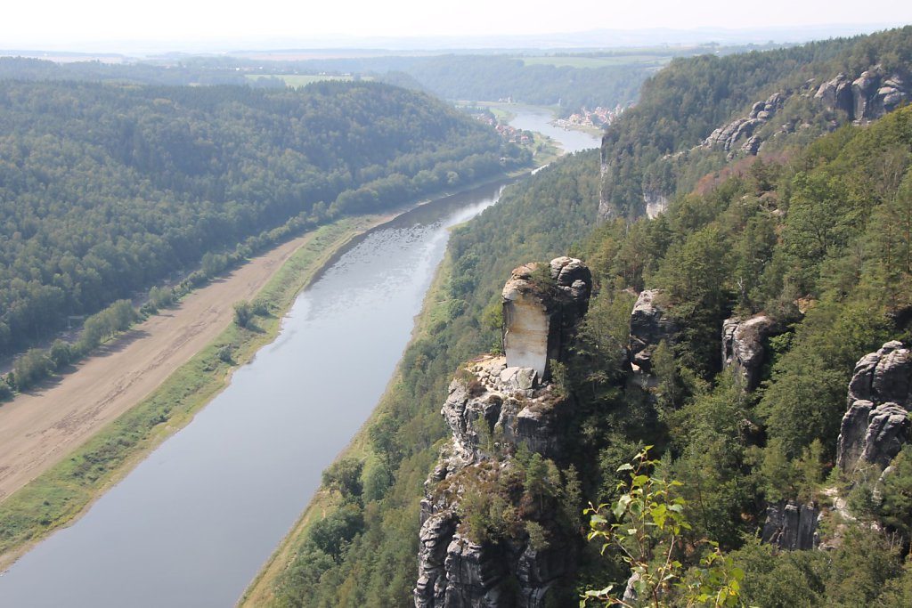 The Bastei (Elbe River, Germany)